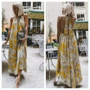 Zara flowy print dress (3036)